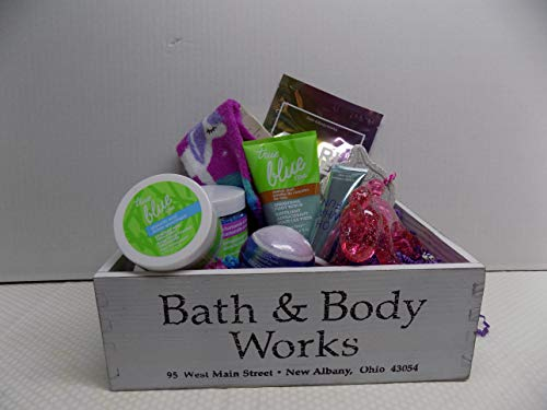 Bath and Body Works Relax and Pamper Your Feet Spa Set 10 Pieces Includes True Blue Spa Glyolic Acid Cracked Heel Treatment, Effervescent Foot Soak, Smoothing Foot Scrub, Plus 7 Others