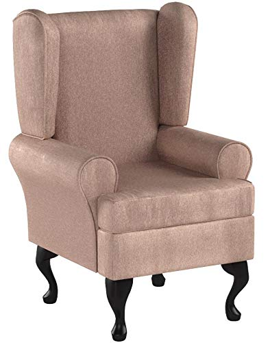 Orthopedic High Seat Chair (21' SEAT HEIGHT) For the Elderly or Infirm - BEIGE - OUR BEST SELLER! Firm and comfortable, ideal for the disabled, immobile or people recovering from an operation or accident - ALSO IN BROWN, PLUM AND GREEN