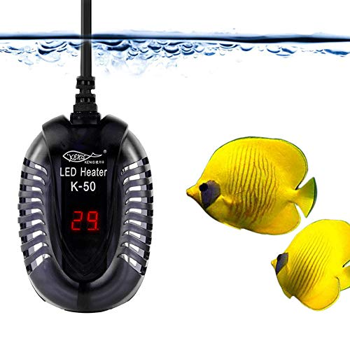 YCTECH Submersible Aquarium Heater with LED Water Thermometers for 1-35 Gallon Tropical Fish Tank, Safe Adjustable…