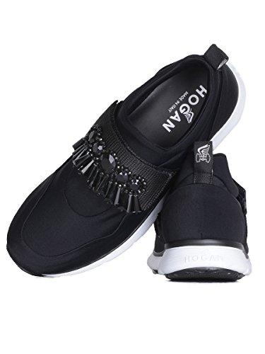 Hogan Slip On Sneakers Donna HXW2540X690C9SB999 Tessuto Nero