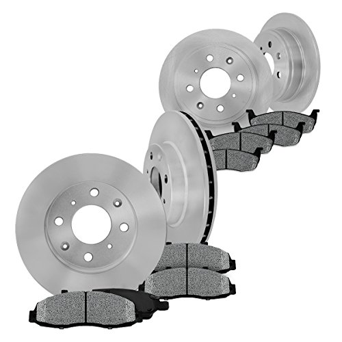 Jetta Gt Brake (FRONT 256 mm + REAR 226 mm Premium OE 4 Lug [4] Rotors + [8] Metallic Brake Pads)