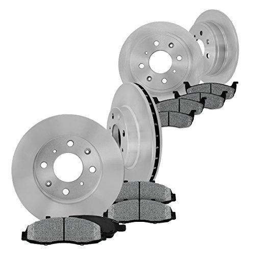 Jazz Rear Brake - FRONT 256 mm + REAR 226 mm Premium OE 4 Lug [4] Rotors + [8] Metallic Brake Pads