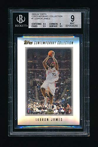 BGS 9 LEBRON JAMES 2003-04 TOPPS CONTEMPORARY COLLECTION RC WITH (2) 9.5 GEM SUB