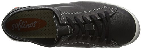Softinos Black Isla Low Sneakers Women's Black Top qqrx8OA