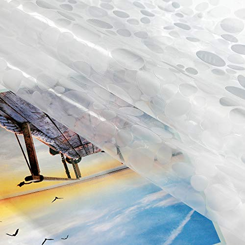 Aoohome Clear Shower Curtain Liner EVA Bathroom Curtain 3D