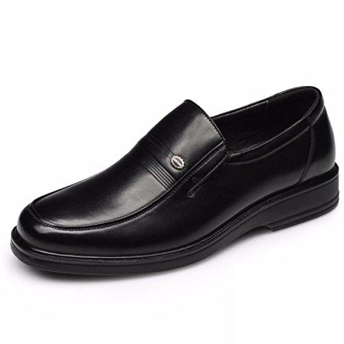 Quotidien Set Cuir Casual En Papa 's En Confortables D'affaires Chaussures Black Hommes GRRONG Cuir S Hommes Chaussures Chaussures Chaussures wFfgn6Eq