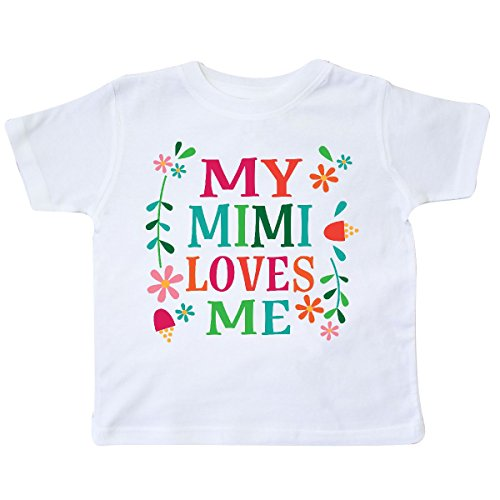 inktastic - My Mimi Loves Me Girls Outfit Toddler T-Shirt 4T White -