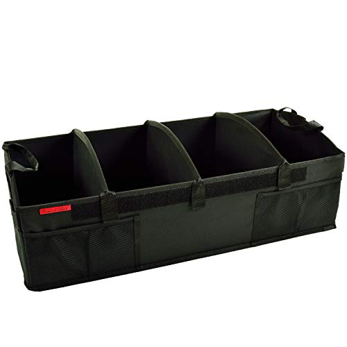 Picnic at Ascot Heavy Duty Rigid Base Trunk Organizer -70 LB Capacity - Adjustable Dividers - 30