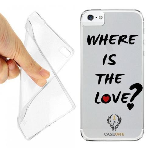 CUSTODIA COVER CASE CASEONE WHERE LOVE PER IPHONE 5S OPACO