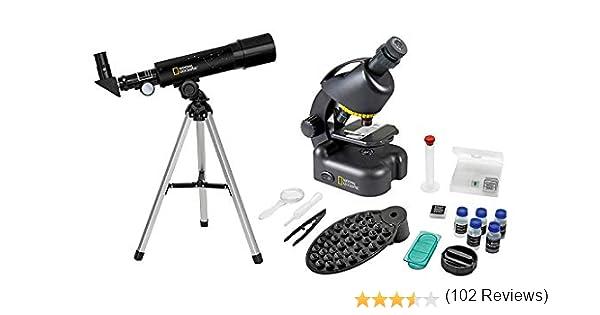 National Geographic Set Telescopio-Microscopio con Soporte para Smartphone: Amazon.es: Electrónica