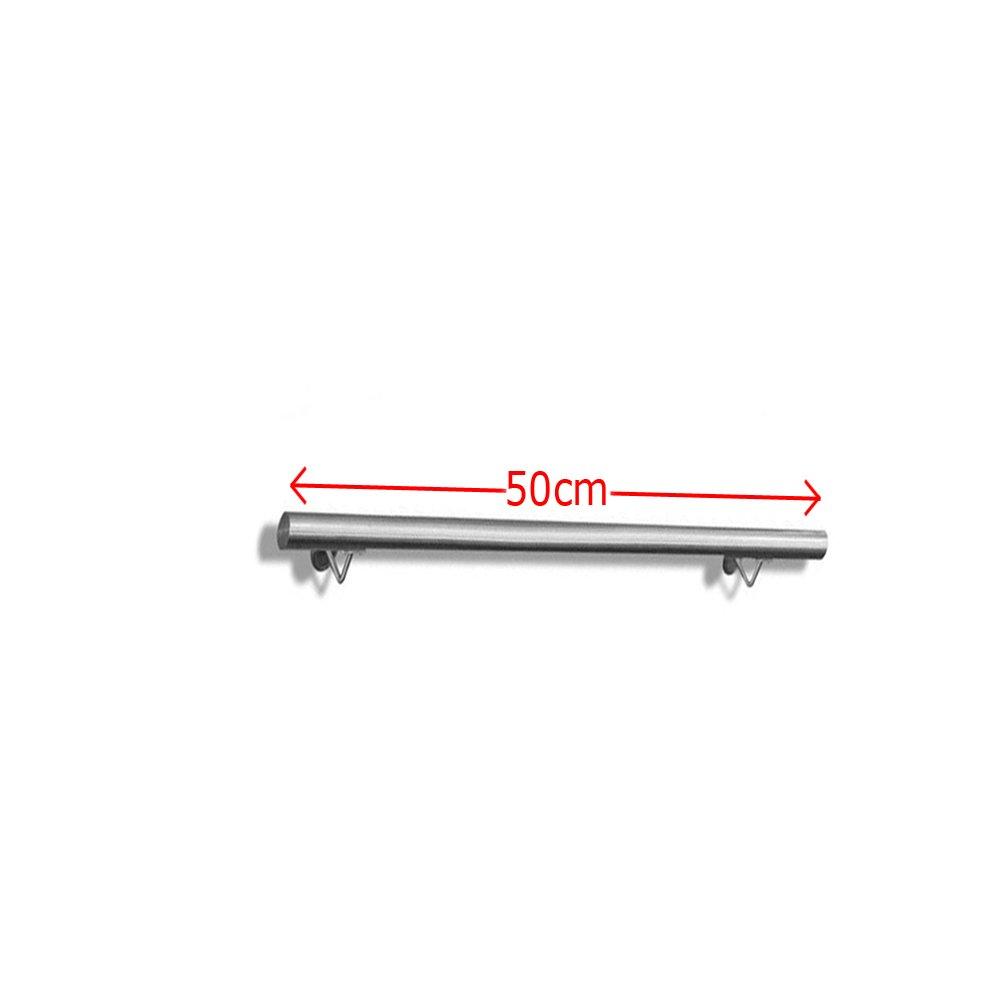 FROADP Corrimano Inox AISI304 Contro il Ringhiera della parete per Scala interni ed esterni Venature del Legno Scuro, 120cm