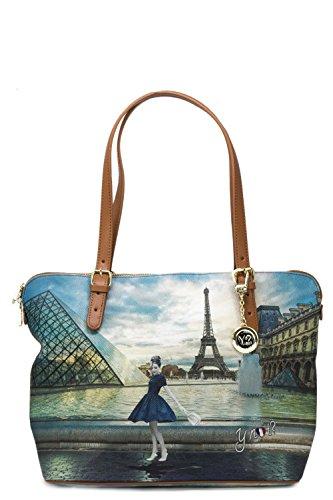 Y SAC 377 Paris BAG SHOPPING NOT MEDIUM FEMME K fZqOf1nrw