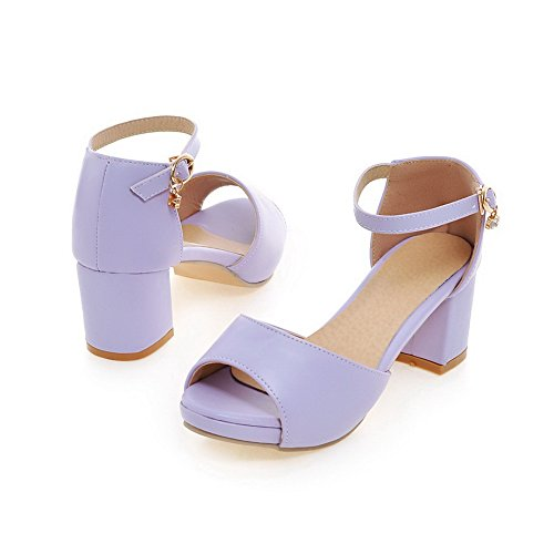 Purple Size Lining Dress Sandals Cold ASL05178 Womens Urethane Mini BalaMasa RAqzpywn