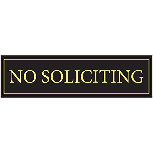 """No Soliciting Door Magnet - The Perfect""""No Soliciting"""" Sign for Metal Doors and Frames (2.5"""" x 9"""")"""