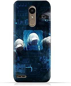 AMC Design LG K10 2018 TPU Silicone Protective case with Dangerous Hacker Design