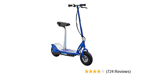 amazon com : razor e300s seated electric scooter - blue : childrens powered  ride ons : sports & outdoors