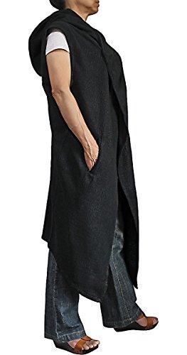 Sawan-Womens-Hemp-Linen-Sleeveless-Hooded-Long-Jacket