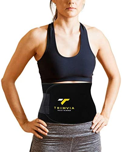 TRIMVIA Waist Trimmer for Women and Men, Sweat Band Waist Trainer, Waist Shaper, Waist Cincher 2
