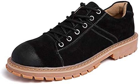 作業靴のメンズファッションオックスフォードをひもで締めてカジュアルな丸いつま先耐摩耗性 快適な男性のために設計