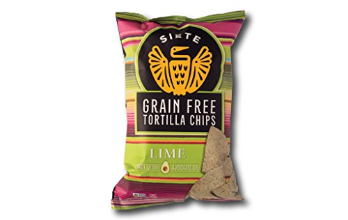 Siete Grain Free Tortilla Chips, Lime, 5 (Salted Soy Crisps)