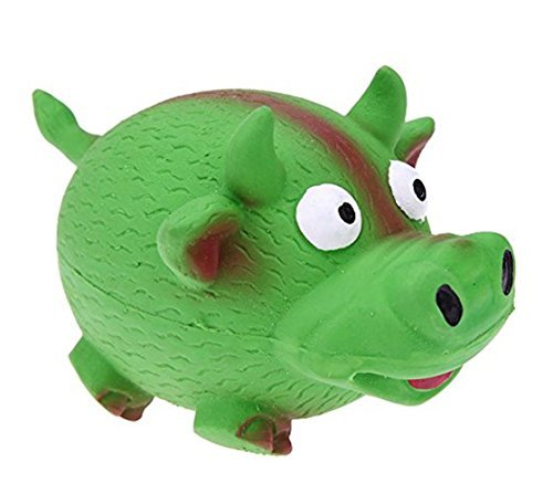 Tau Trading Squeaky Loud and Funny Dog Toy - Green Cow