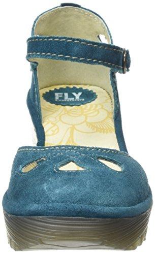 FLYA4 #Fly London Yuna, Zapatos de Tacón para Mujer, Azul (Petrol 108), 42 EU