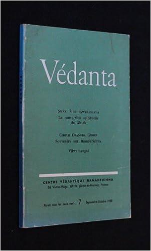 Téléchargement Védanta n°7 (septembre-octobre 1958) pdf, epub