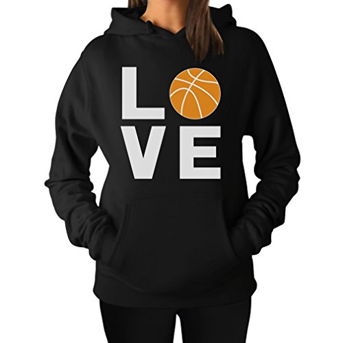 Love Basketball - Gift Idea for Basketball Fans / Player Cool Women Hoodie Small Black