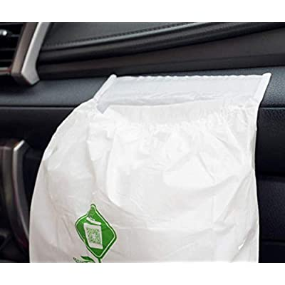 60pcs Car Trash Bag, Biodegradable & Compostable garbage bag Rubbish Bin Bag Car Trash Bin Gag Disposable Container Bag for Auto Car Truck Vehicle Office Babyroom Bathroom Study Room: Automotive