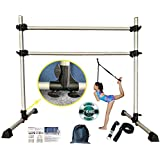 FCfuncheer 4 FT Professional Aluminum Ballet Barre,Portable and Light Weight Dance bar Including Free Leg Stretching