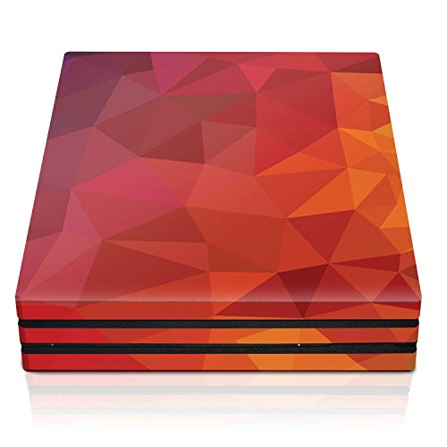 Controller Gear PS4 Pro Console Skin – Blood Orange Poly Horizontal – PlayStation 4