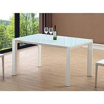 Mesa de Comedor Extensible Blanca Iraia 140/200 cm ...