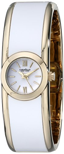 Ladies Bulova Two Tone Bangle Watch - Caravelle New York Women's 44L144 Two-Tone Bangle Watch