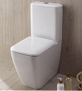 Super Keramag iCon Comfort Stand-Tiefspül-WC ohne Spülrand weiß mit UY05