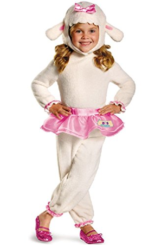 [8eighteen Doc McStuffins Sweetest Lamb Lambie Classic Toddler Costume] (Adult Classic Nun Costumes)