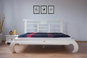Mk Fen 012weiss Bett Feng Shui 160 X 200 Cm Amazon De Kuche Haushalt