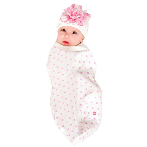 Cozy Cocoon - Baby Cocoon Swaddle & Matching Hat - Pink Dots - 0-3 (Cozy Cocoon Baby)