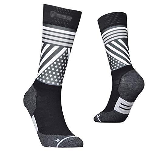 HCZ Running Socks Riding Long Tube Compression Socks Men and Women Nursing Calf Socks Off-Road Football Marathon Sports Socks(1 Pair) (Color : White, Size : M) (Off Road Cycling Sock)