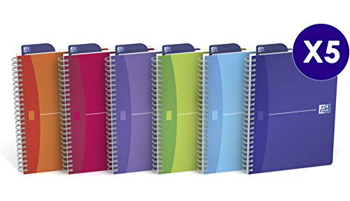 Oxford Office A5 Wirebound Notebook 180 Pages Assorted Pack of ()