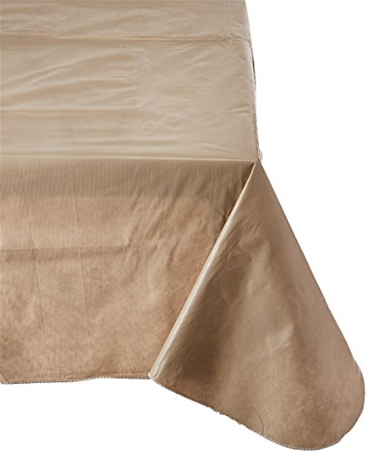 Carnation Home Fashions Vinyl Tablecloth with Polyester Flannel Backing, 52, 70-Inch, Linen Color - Wipes clean easily Heavy quality easy care Durable construction - tablecloths, kitchen-dining-room-table-linens, kitchen-dining-room - 41Ywo4ujS2L -