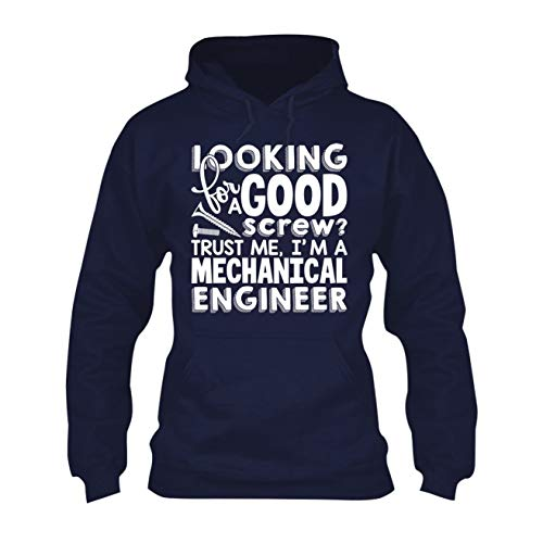 Zira Frog I'm A Mechanical Engineer Hoodie, Adult Long Sleeve Hoodie Design Navy,S