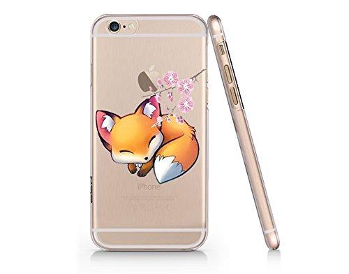 Cute Fox Slim Iphone 6 6s Case, Clear Iphone Hard Cover Case