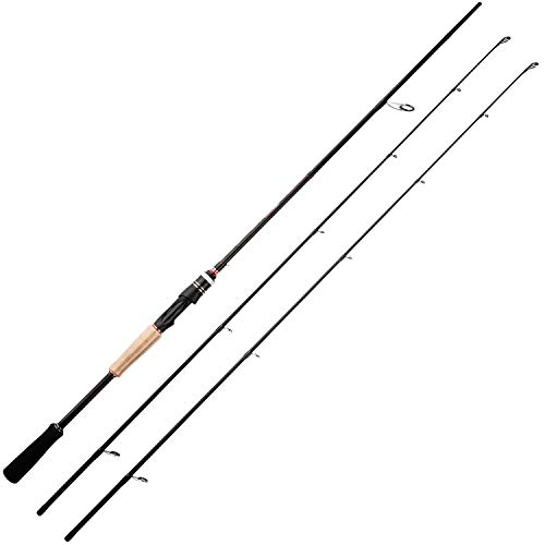 BERRYPRO 7-Feet Casting rods and Spinning rods, 24 Ton Carbon Fiber Baitcasting Fishing Rods - Two Piece Twin-Tip Rods and One Piece Rods (Twin-tip Spinning - 7' M & MH - 2pcs) (Best Spinning Rod Under $50)