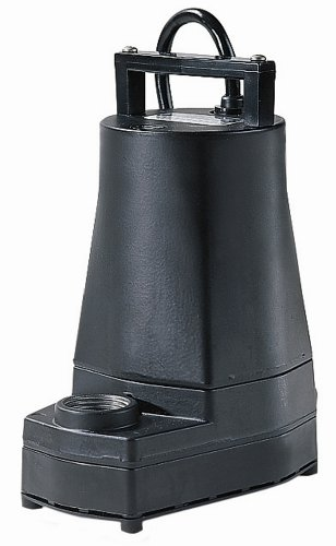 Little Giant 505325 5-MSPR-WG Permanently Lubricated Submersible Pump, 1/6 HP, 115V