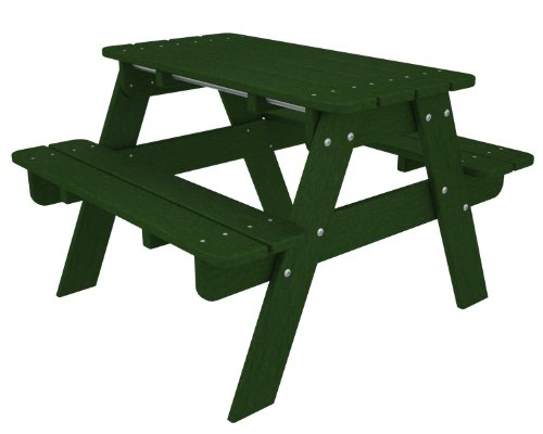 POLYWOOD KT130GR Kids Picnic Table, Green by POLYWOOD