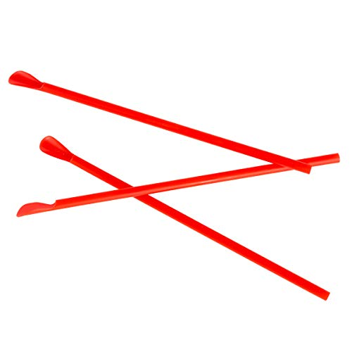 1270 Case of 200 Red Spoon Straws for Concession Stands and Parties