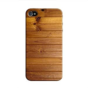 Cover It Up Wood Panel Hard Case for iPhone 4 - Brown