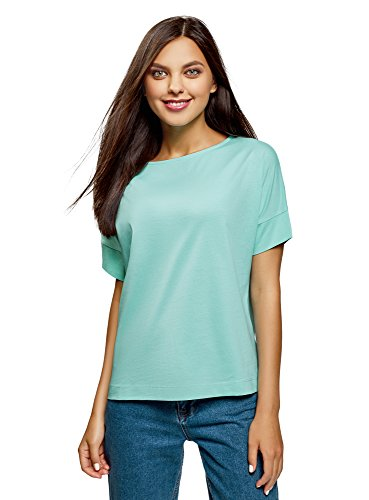 Turchese T shirt Ultra Basic Oodji 7301n In Donna Cotone Ex0FqOw7O