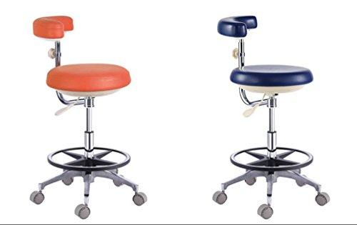 Zeta Dental Dentist's Mobile Chair Nurse's Stools with Backrest PU Leather Light Blue (1#) by Zeta (Image #1)