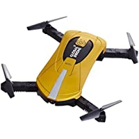 Owill 2MP PX GW018 RC Quadcopter Drone WIFI FPV Real-Time View Foldable Altitude Hold Helicopter (Gold)